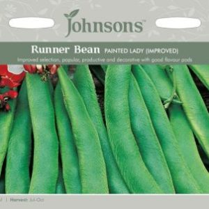 Johnsons Runner Bean Painted Lady (Improved) Seeds