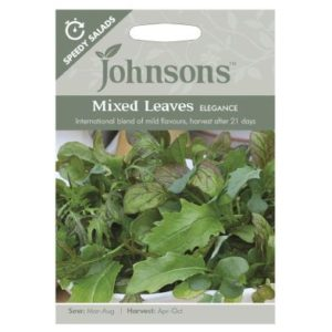Johnsons Speedy Salads Mixed Leaves Elegance Seeds