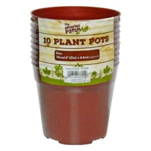 10 Pack Growing Patch 4 Inch Plant Pots