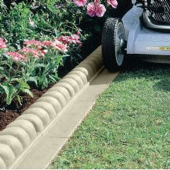 2.3m Mow Over Victorian Lawn Edging - Grey - H6cm