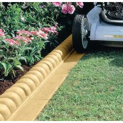 2.3m Mow Over Victorian Lawn Edging - Sand - H6cm