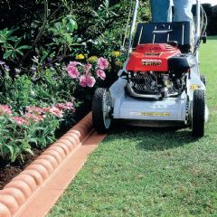 2.3m Mow Over Victorian Lawn Edging - Terracotta - H6cm