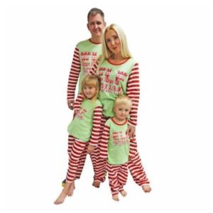 Family Elf Squad Christmas Pyjama Set Ladies Size 16 - 18