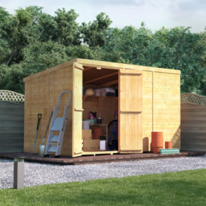 10 x 6 BillyOh Master Tongue and Groove Pent Wooden Windowless Garden Shed