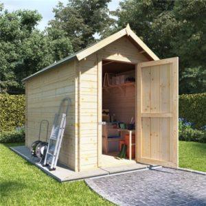 10 x 6 log cabin BillyOh Heavy Duty Apex Windowless Log Cabin Store - 19mm