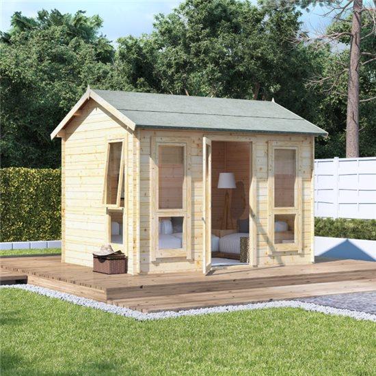 10 x 8 BillyOh Darcy Log Cabin Summerhouse - 19mm
