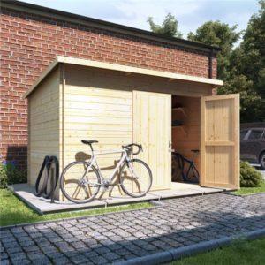 10 x 8 BillyOh Pent Log Cabin Windowless Heavy Duty Bike Store Range - 19mm