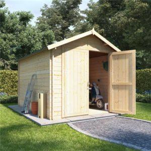 10 x 8 log cabin BillyOh Heavy Duty Apex Windowless Log Cabin Store - 28mm