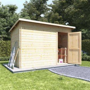 10x6 log cabin single door BillyOh Log Cabin Shed - Heavy Duty Pent Windowless Range