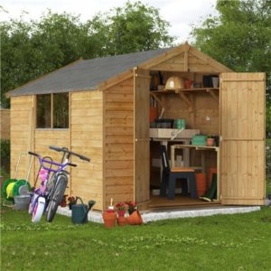 10x8 Keeper Overlap Apex Wooden Shed - Windowed BillyOh