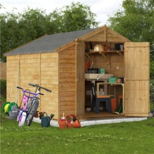 10x8 Keeper Overlap Apex Wooden Shed - Windowless BillyOh
