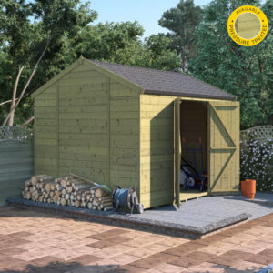 10x8 Pressure Treated T&G Shed - BillyOh Expert Reverse Workshop Windowless