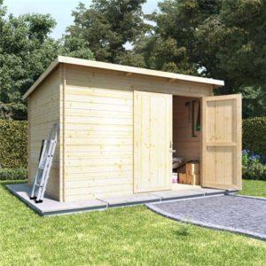 10x8 log cabin double door BillyOh Log Cabin Shed - Heavy Duty Pent Windowless Range