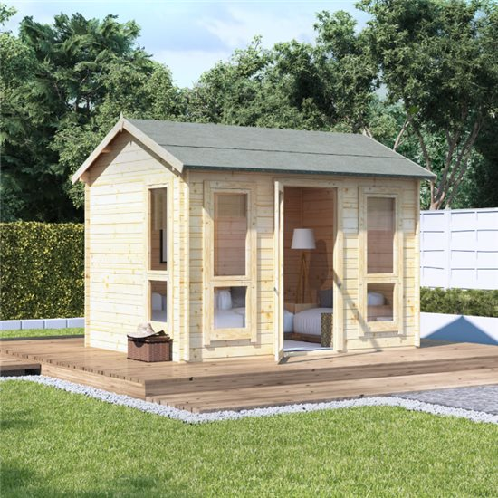 10x8 modern sgl door BillyOh Darcy Log Cabin Summerhouse - 28mm