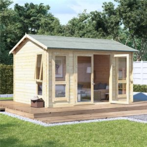 12 x 10 BillyOh Darcy Log Cabin Summerhouse - 28mm