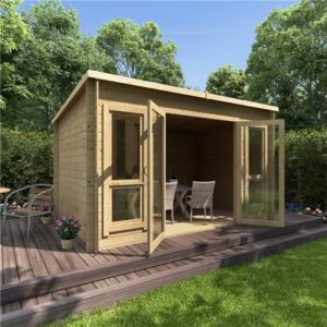 12 x 8 BillyOh Carmen Log Cabin Summerhouse - 19mm
