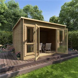 12 x 8 BillyOh Carmen Log Cabin Summerhouse - 28mm