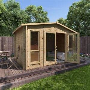 12 x 8 BillyOh Sasha Log Cabin Summerhouse - 28mm