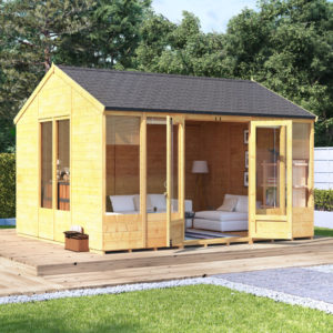 12x10 Petra Tongue and Groove Reverse Apex Summerhouse -PT BillyOh