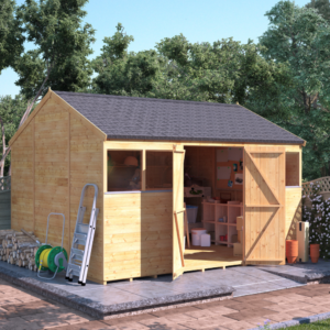 12x10 T&G Shed - BillyOh Expert Reverse Workshop Windowless