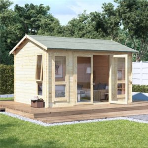 12x10 modern dbl door BillyOh Darcy Log Cabin Summerhouse - 19mm