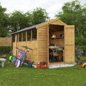 12x6 Keeper Overlap Apex Wooden Shed - Windowed BillyOh