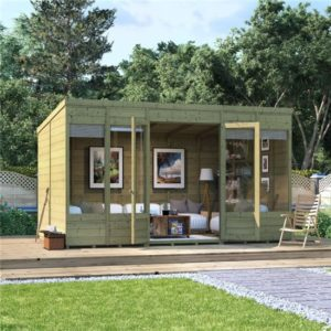 12x8 Bella T&G Pent Summerhouse -PT BillyOh