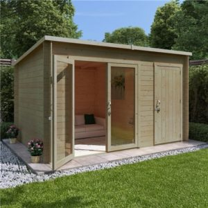 12x8 BillyOh Tianna Log Cabin Summerhouse with Side Store - 19mm