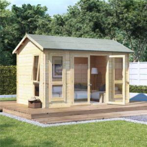 12x8 modern dbl door BillyOh Darcy Log Cabin Summerhouse - 19mm