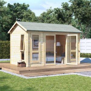 12x8 modern dbl door BillyOh Darcy Log Cabin Summerhouse - 28mm