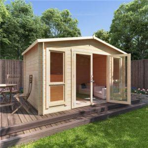 12x8 sasha BillyOh Sasha Log Cabin Summerhouse - 19mm