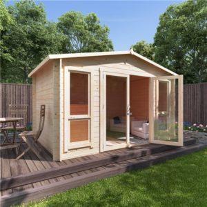 12x8 sasha BillyOh Sasha Log Cabin Summerhouse - 28mm