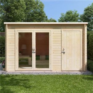 12x8 tianna BillyOh Tianna Log Cabin Summerhouse with Side Store - 19mm