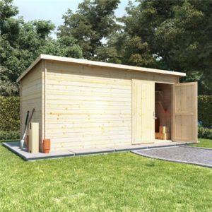14x8 log cabin double door BillyOh Log Cabin Shed - Heavy Duty Pent Windowless Range