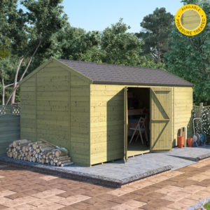 16x8 Pressure Treated T&G Shed - BillyOh Expert Reverse Workshop Windowless
