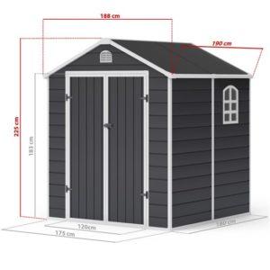 6x6 Ashford Plastic Garden Storage Shed - BillyOh