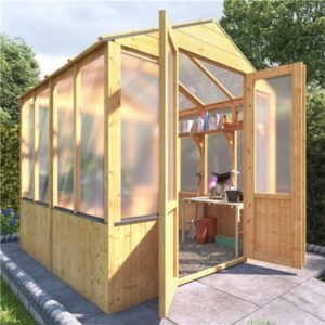 BillyOh 4000 Lincoln Wooden Polycarbonate Greenhouse - 6 x 6 Lincoln Wooden Greenhouse