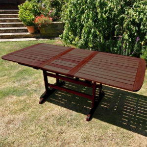 BillyOh Hampton 1.5m - 2m Extending Butterfly Wooden Garden Table - 2m Butterfly Extending Rectangular Table
