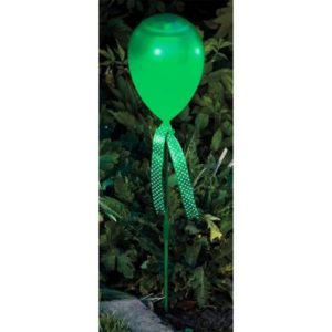 Bright Garden Balloon Stake Solar Light - Green
