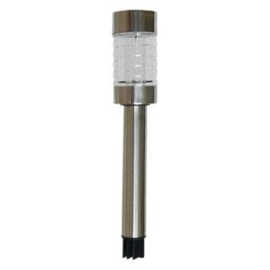 Bright Garden Metal Solar Light - Brushed Chrome Finish