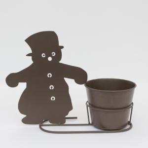 Festive snowman silhouette pot