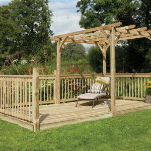 Forest Garden Ultima Pergola Deck Kit 2.4 x 4.8m