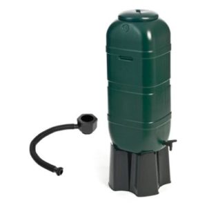 100L Slimline Garden Water Butt Set Including Tap & Stand & Filler Kit