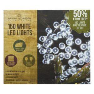 Bright Garden 100Pk Cool White Solar Lights +50% Free