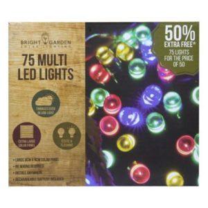 Bright Garden 50Pk Multi Col Solar Lights +50% Free