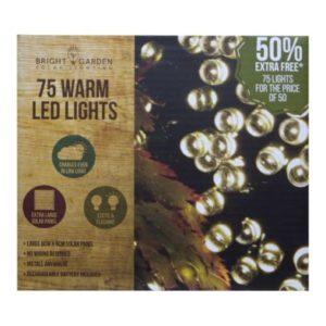 Bright Garden 50Pk Warm White Solar Lights +50% Free