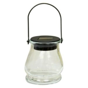 Bright Garden Hanging Jar Solar Light - Clear