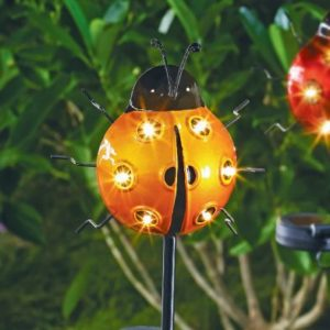 Bright Garden Solar Ladybird Stake Light - Orange