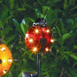 Bright Garden Solar Ladybird Stake Light - Red