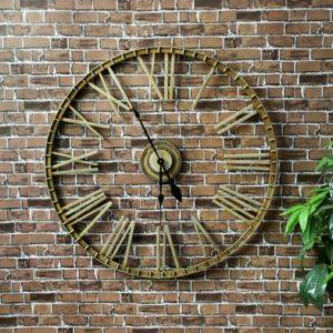 Charles Bentley Large Outdoor Wall Clock - Bronze